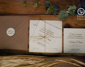 Participation Invitation Country Wedding