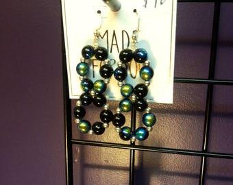 Black, Blue & Green Earrings