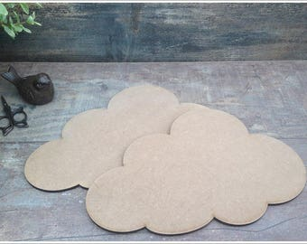 Set of 10 clouds blank height 18.5 cm width 29.5 cm thickness 6mm