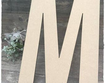 Giant letter blank height 40 cm to decorate yourself