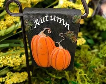 Miniature Autumn / Fall / Pumpkin Garden Sign