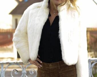 Vintage coat in rabbit fur