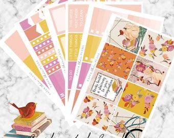 SALE - Enchanted Garden | Planner Stickers MATTE | Erin Condren Vertical Weekly Planner Kit