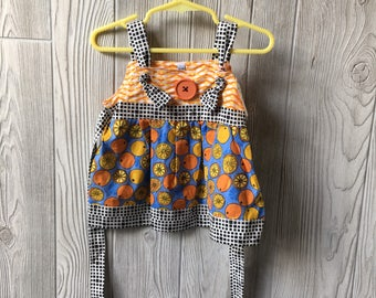 12-18 MO - orange topknot dress