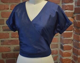 """Kimono Wrap Top - Silk Wrap Crop Top - The """"Shoreline"""" Top"""