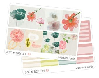 Watercolor Floral Set Planner Stickers