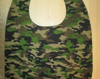 Adult bib / Clothes protector / Special needs bib / Army / Camouflage