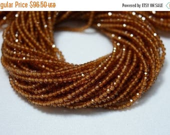 40% Discount 5 Strands, AAA 2.5 mm Hessonite Garnet Beads, Faceted Rondelle Beads, Garnet Rondelles, Gemstone Beads, 13 Inch