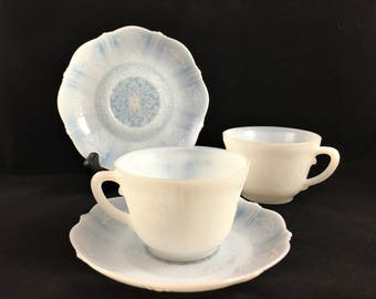MacBeth Evans Monax American Sweetheart Coffee Cup / Tea Cup and Saucer