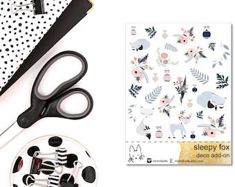 Sleepy Fox - Deco Add-On Sticker