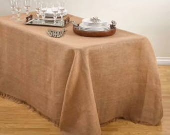 BULK SALE!! 17 Burlap tablecloths, burlap, 6 FT tablecloth, table cloth, rustic decor, outdoor wedding, rustic wedding decor, sale,