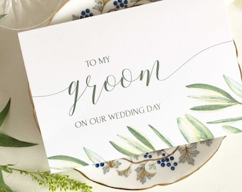 To My Groom On Our Wedding Day, Card Groom, Card For Groom, Wedding Card For Groom, To My Groom Card, To My Husband To Be Card To Groom