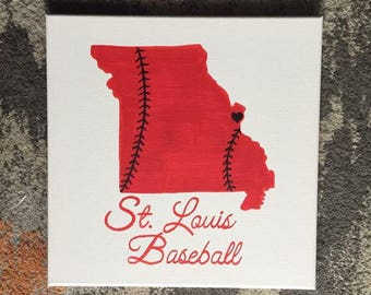 """Quote Canvas/Ready to Ship!/ St. Louis Cardinals Baseball/ 12""""x12"""""""
