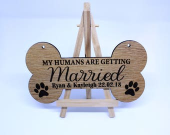 Personalised Wedding Dog Sign - Photo Prop