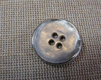 5pcs, buttons, metal buttons 20mm antique silver buttons with holes, UnionKnopf buttons, sewing, sewing buttons