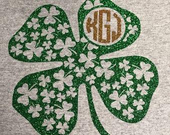 St. Patties Monogrammed Shamrock Shirt
