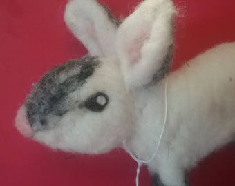 Needle Felted Pointed Rabbit (one of a kind)