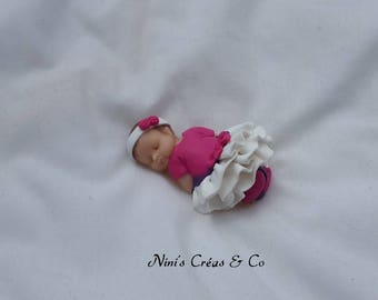Baby girl Polymer Clay figurine