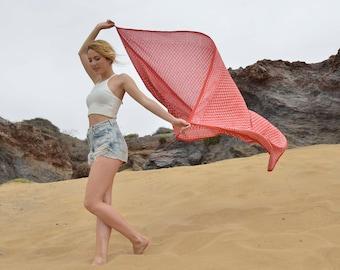 Boho beach sarong, indian scarf, ethnic scarf, boho scarf,blockprint scarf, bohemian blanket,