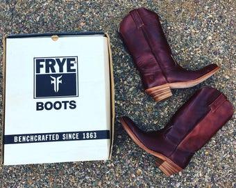 70s Men's Frye boots Vintage frye cowboy boots deadstock fry boots vintage boots 10.5 USA boots