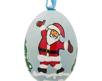 "3"" Santa and Christmas Tree Wooden Christmas Ornament"