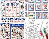 Sunday Activity Printable Kit