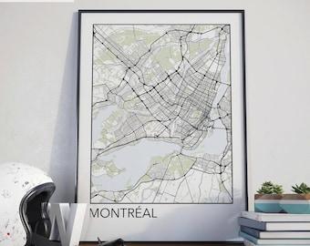 Montreal, Quebec Minimalist City Map Print