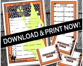 Printable Halloween Bunco Cards