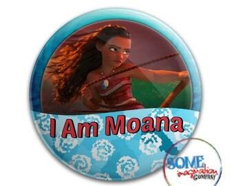 I Am Moana Button