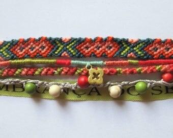 friendship Cuff Bracelet composed of 5 bracelets