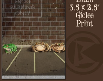 ACEO Frog Parking