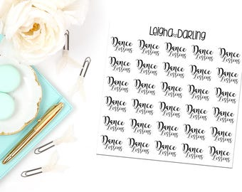 Hand Letter Dance Lesson Planner Stickers