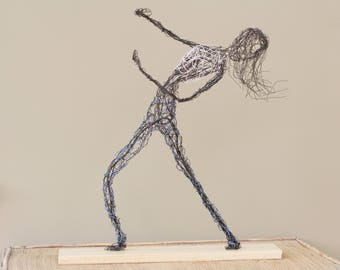 Wire dancer sculpture