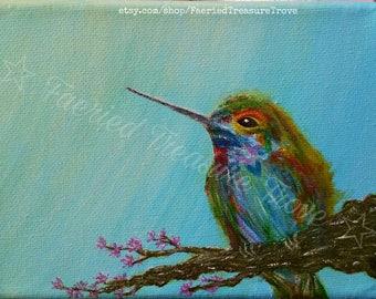 Just Be ~ Orginal Acrylic Painting Art Print ~ Don't lose heart...