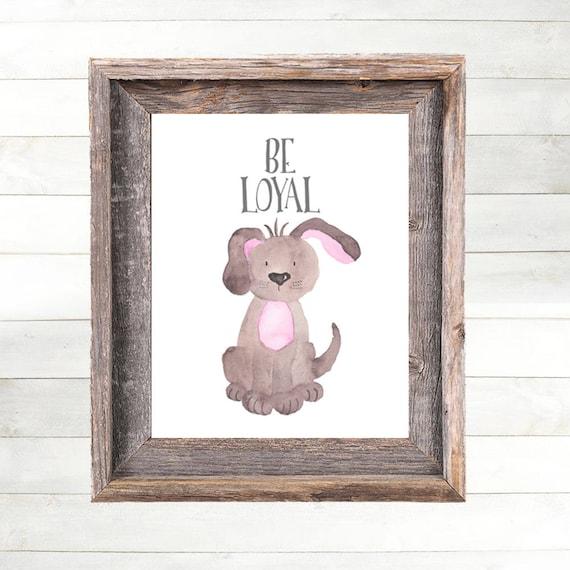 Puppy Dog Nursery Art Print, Dog Nursery Decor,  Farm Animal Nursery Art, Farm Nursery Print,  Country Nursery Art, Farm Theme Nursery Art