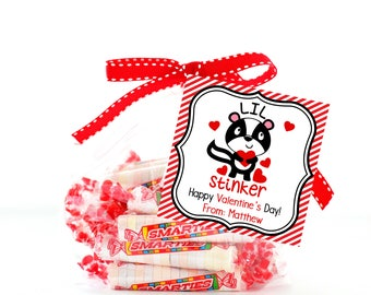 Kids VALENTINE Tag, Printable Valentine Treat Bag Topper, Valentine Party Favors, Kids Classroom Party, Valentine Tags, Valentine Bag Topper