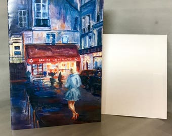Paris Nights note cards