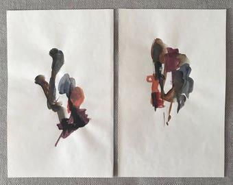 Watercolor Abstract, No. 11 & 12