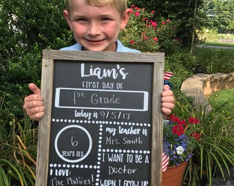 1st Day of School Chalkboards ~ customize with your child's name!
