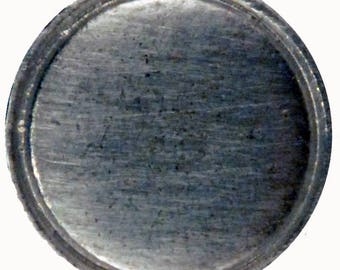 """BU-109 Domed button with rim 11/16"""""""