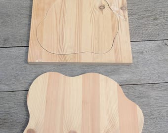 2 off shapes made from pine for Fran