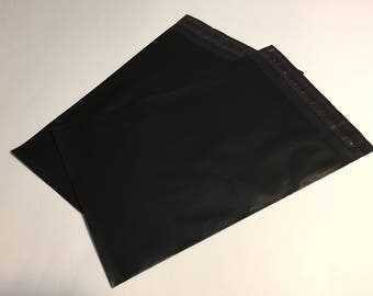 50 9x12 BLACK Poly Mailers Self Sealing Envelopes Shipping Bags Halloween