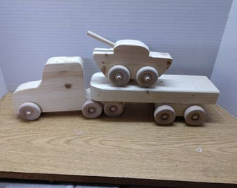 Semi Truck with Trailer and removable tank