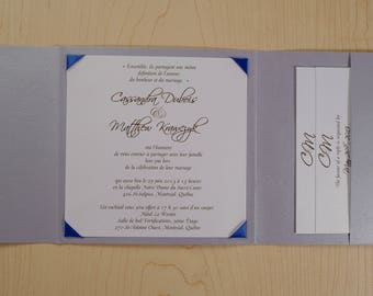 Royal Blue And Silver Wedding Invitation, Royal Blue And Silver Invitation, Royal  Blue Wedding