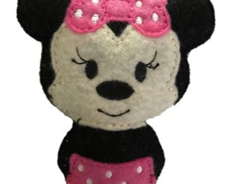 Pink Minnie Mouse inspired Catnip Toy