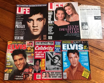 Vintage Elvis Presley and Daughters Magazines . Older Elvis Presley magazines . Vintage elvis