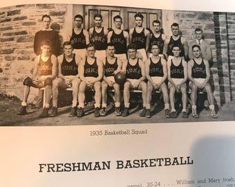 1936 The Duke Chanticleer Yearbook . Vintage Duke university . Antique duke university . Antique chanticleer . Vintage chanticleer