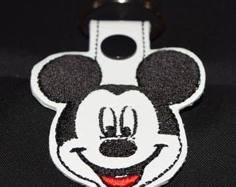Mickey Mouse keyfob keychain zipper pull bag tag Disney Gift Mickey Mouse