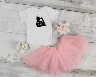 We Can Do It Baby Onesie | Baby Onesie | Girl Onesie | Rosie The Riveter | Womens March | Baby Shower Gift | Baby Gift | Custom Onesie