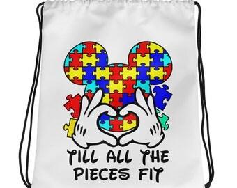 Autism cinch Drawstring bag